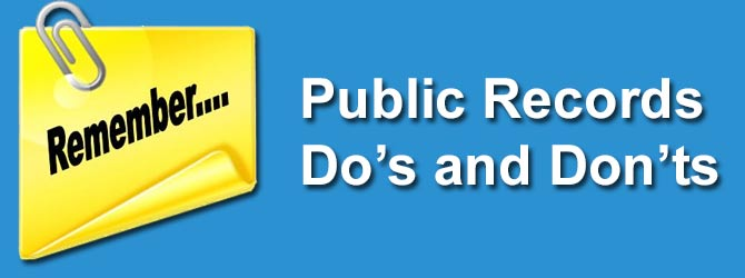 North Carolina Public Records Do's and Don'ts