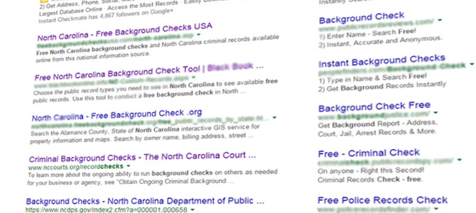 Free North Carolina Background Checks Don't Exist